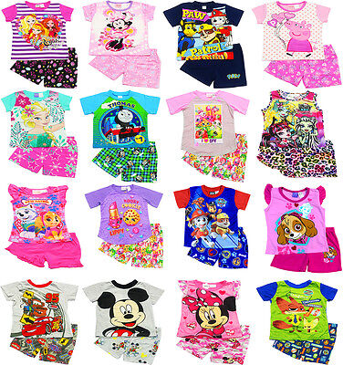 NEW Sz 2~6 BOYS SUMMER PJS PJ KIDS PYJAMAS TOP TEE TSHIRT SLEEPWEAR GIRLS GIFT