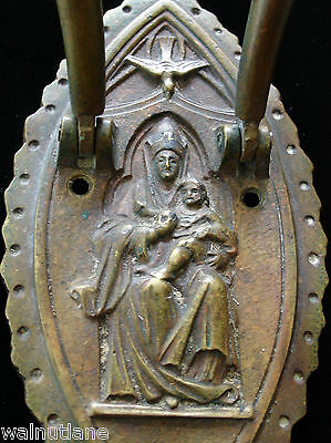 Antique Brass Door Knocker Religious Icon Dove Architectural Salvage