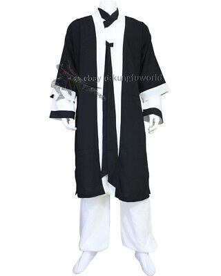 3 Pieces Shaolin Wudang Taoist Robe Tai Chi Suit Wing Chun Martial arts Uniform