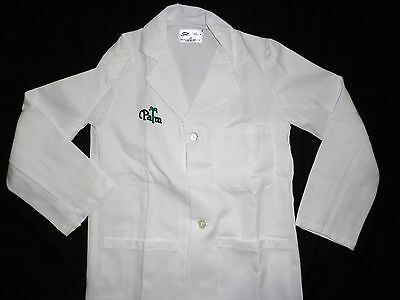 Halloween Costume Doctor L/S Lab Coat 3 Pocket Palm Embroidery White Large to 6X