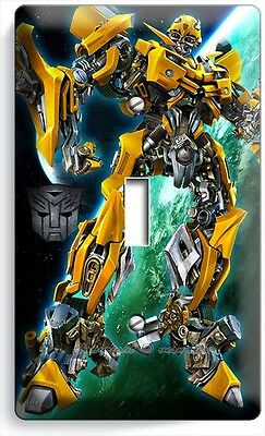 Transformers Autobot Bumble Bee Single Light Switch Boys Bedroom Room Home Decor