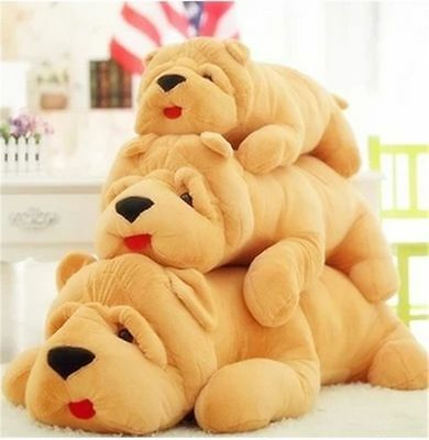 SharPei Plush Dog Large Huge Giant Stuffed Animal  Dog Soft Doll Toy Mangy Dog×1