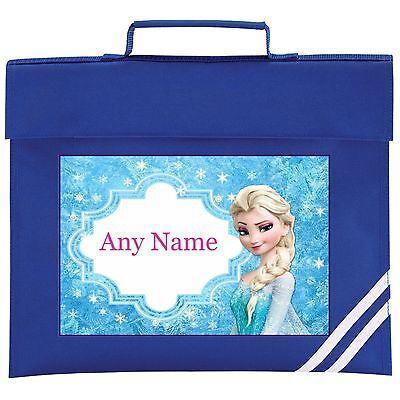 Personalised Frozen/Elsa/ Style School BOOK BAG. Choice Of Colours.
