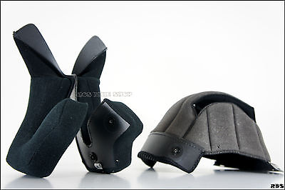 3 piece Washable inner pad (Ear + Top) for Motorcycle Full face Bandit helmet