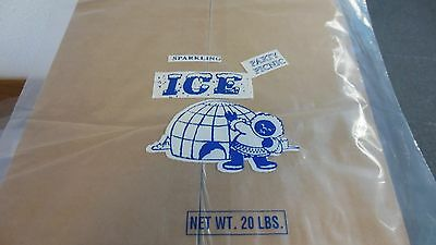 20Lb Ice Bags 2.0 Mil.thick Wicketed 500Pk Heavy Duty