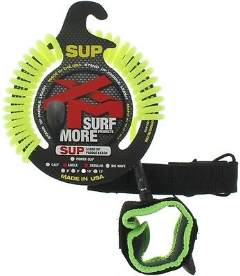 Xm Sup Coiled Regular Ankle Leash 9' Neon Yellow