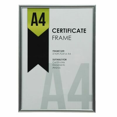 Lifestyle Brands A4 Certificate Frame Silver