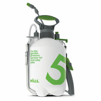 Hills 5Ltr Garden Sprayer Two Nozzles 5L Chemical and Garden Pressure Sprayer
