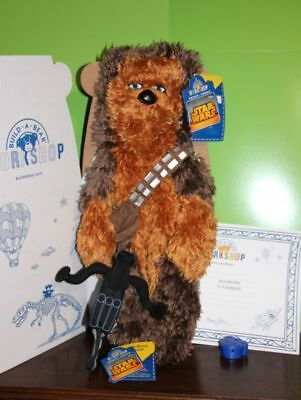 "Nwt Unstuffed Star Wars 18"" Chewbacca Build A Bear Chewy Wookie Sound+ Bowcaster"