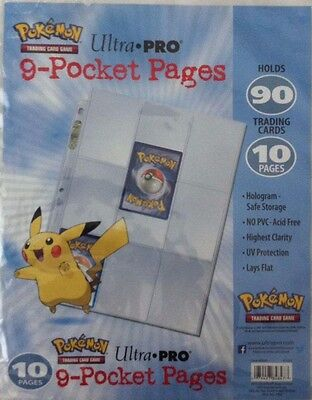 Ultra PRO Pokemon 9 Pocket Trading Card Sleeves - 10 Pages Pk