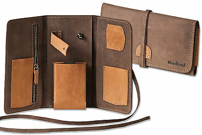 Woodland Leather Pipe bag Suede in Light & Dark brown Combination
