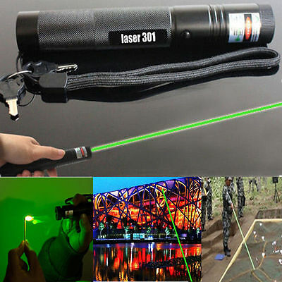 Green Laser Pointer Adjustable Focus 1mw Pen 532nm Burning Beam Light Lazer