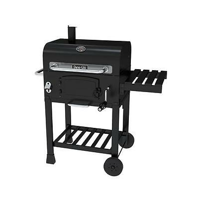 Dyna-Glo Compact Charcoal Grill in Black 545 sq.in Cooking Space Stainless Gauge