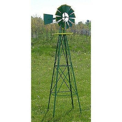 8 Foot Tall Metal Steel Tower Outdoor Garden Farm Wind Mill Decoration