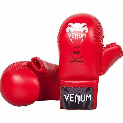 Venum Karate Mitts with Thumb Protection (WKF) - Red
