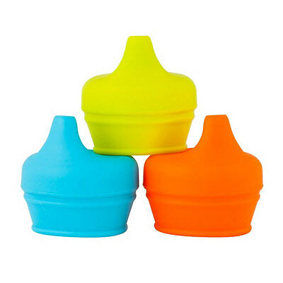 NEW Boon Snug Universal Sippy Lids : Orange Set