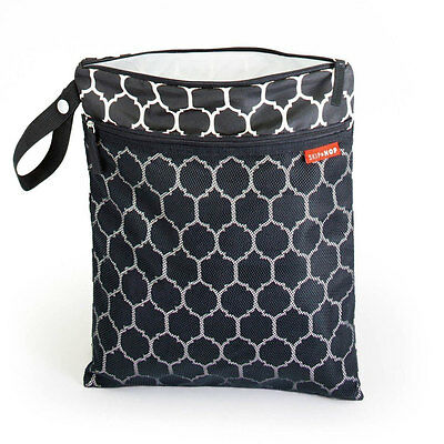 NEW Skip Hop Grab & Go Wet/Dry Bag - Onyx Tile