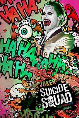 """SUICIDE SQUAD Movie Poster [Licensed-New-USA] 27x40"""" Theater Size Joker, Leto"""