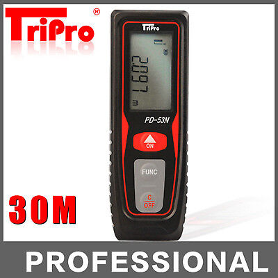 30m Digital Laser Long Distance Meter Measurer Area Volume Range Finder Measure
