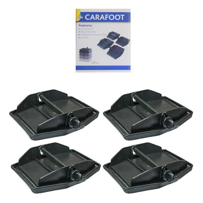 Caravan Carafoot Corner Steady Leg Jack Pads - Set Of 4