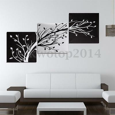 3Pcs Black And White Tree Picture Paint Canvas Painting Modern Art Wall Decor