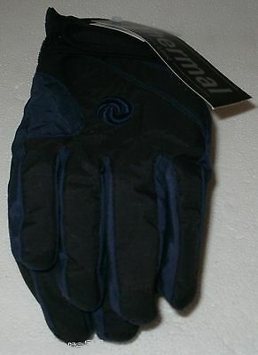 Boys Thermal Ski Gloves Black And Navy Blue Size 9/12 Years