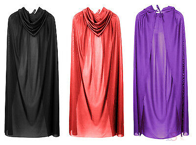 Halloween Hooded Cloak with Hood Adult Long Cape Masquerade Costume Fancy Dress