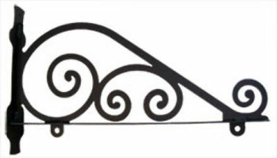 "Village Wrought Iron 18"" Traditional Sign Wall Bracket Black for Hanging Sign"