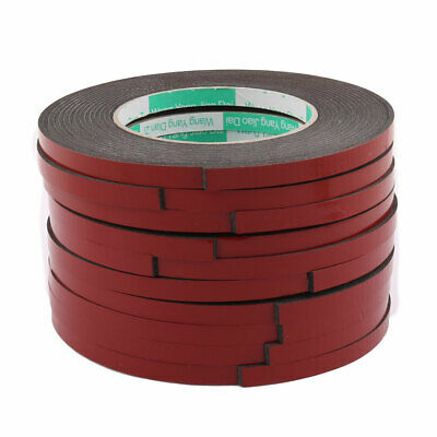 10pcs 8mmx2mm Red Double Sided Sponge Tape Adhesive Sticker Foam Glue Strip 5M