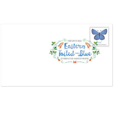 USPS New Eastern Tailed Blue Butterfly Digit Color Postmark