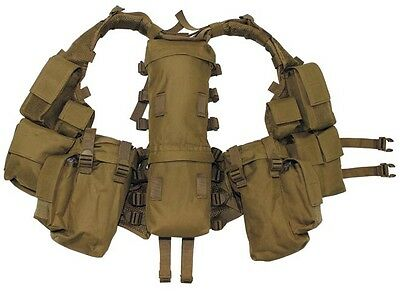 Mfh South African Assault Vest with Pouches Airsoft Cadet Coyote 30993r Utility