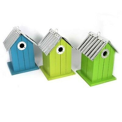 Deluxe Nesting Box Wooden Bird Box with Aluminium Roof