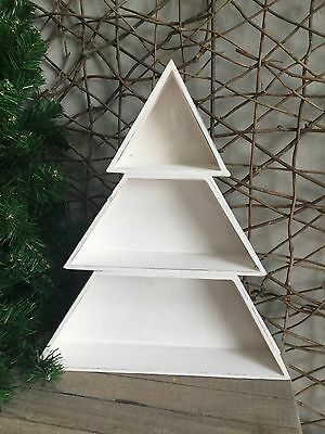 Heaven Sends White Wooden Christmas Tree Display Box 34cm