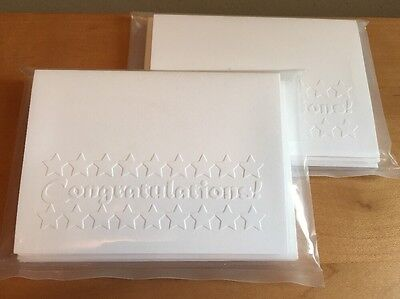 """Congratulations"" Embossed Cards -By Brenda Nippert - 17 cards w/ envelopes"