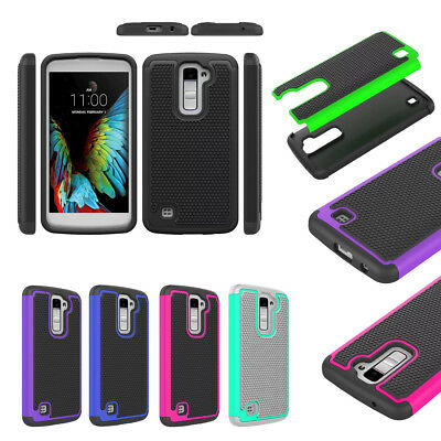 2 in 1 Rugged Shockproof Heavy Duty Hybrid Hard Rubber Case Cover For LG Phones