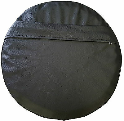ukscooters LAMBRETTA VESPA POCKET SPARE WHEEL COVER 10 INCH WHEELS BLACK