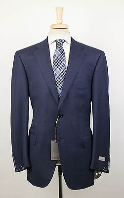 New. CANALI Yale Blue Wool 2 Button Suit Size 54/44 R $1995