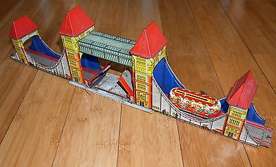 Vintage Technofix London Tower Bridge #277 Tinplate Toy Set Us Zone Germany 1954