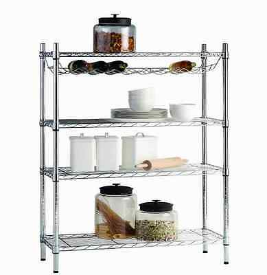 HDX 36 in. x 11 in. Home Decor Standing & Wine Shelf for Wire Shelving in Chrome