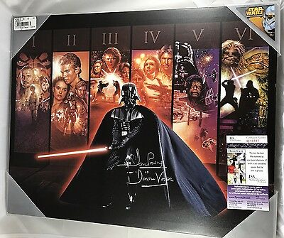 DAVID PROWSE signed 16x20x1.5 STAR WARS SERIES CANVAS Wall Art Dave Darth Vader