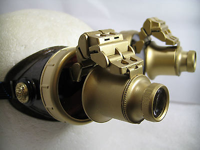 Pro Steampunk Safety Goggles Western Aged Copper Top Hat Cosplay Dual 20X Flip