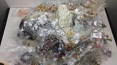 Vintage Costume Jewelry Mixed Lot 16 Pounds 200 Items