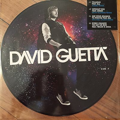 "David Guetta Titanium / Without You / She Wolf / Every Chan 12"" Picture Disc New"