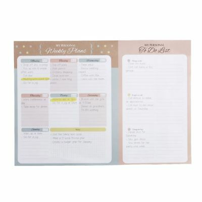 A4 Weekly Planner and To Do List 52 Sheets Natural
