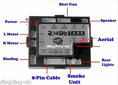 heng long tank 2.4G system RX18 receiver 3.0 Version Upgraded UK