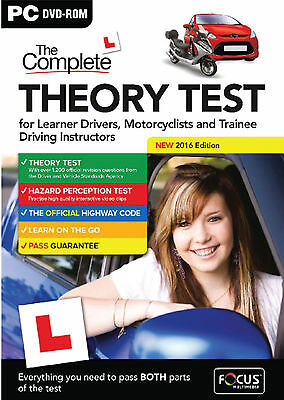 2016 Latest Edition. The Complete Car Driving Theory Test PC DVD CD Rom UK fcThr