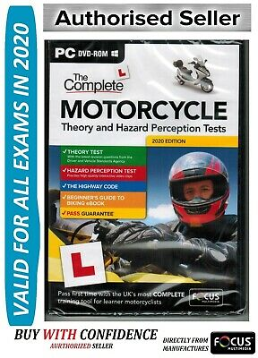 2018 Complete Motorcycle/Motorbike Theory & Hazard Perception Tests PC DVD FcMtr