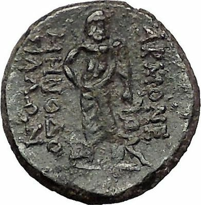 AKMONEIA in PHRYGIA 1stCenBC Zeus Asclepius Authentic Ancient Greek Coin i57704