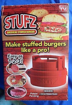 Original Stufz Hamburger STUFFER Maker Press As Seen on TV