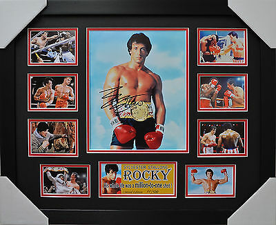 Sylvester Stallone Rocky Signed And Framed Memorabilia
